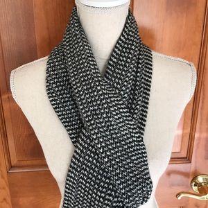 Herringbone Plaid Wool Winter Scarf